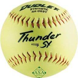 Dudley ASA Thunder Hycon Synthetic Slowpitch Softball - 4A-069Y