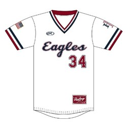 LHS Rawlings 2019 White Eagles Jersey