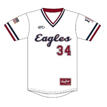 buy cheap 104ca 254a7 LHS Rawlings 2019 White Eagles Jersey