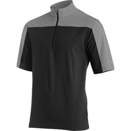 Mizuno Comp Short Sleeve Batting Jacket Mens M / Black-Grey
