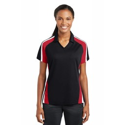 Sport-Tek Ladies Tricolor Micropique Sport-Wick Polo -LST654