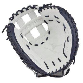 "Mizuno MVP Prime SE Fastpitch Softball Catcher's Mitt 34""- White/ Royal"