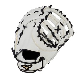 "Mizuno MVP Prime Fastpitch First Base Mitt- GXF50FPWFR-13"" White/Black"