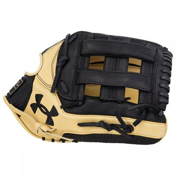 "Under Armour Genuine Pro UAFGGP-1275H 12.75"" Baseball Glove - Black/Cream"