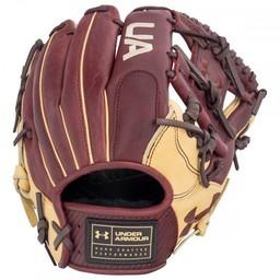 "Under Armour Genuine Pro UAFGGP-1150I 11.5"" Baseball Glove - Black/Cherry/Cream"