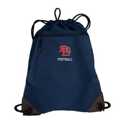 LHS Football Port Authority - Cinch Pack with Mesh Trim: BG810