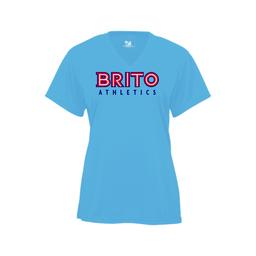 Brito Athletics Badger Ladies V-Neck Dry Fit - 4162 Columbia