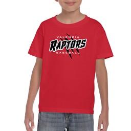 Raptors Gildan 8000B Youth T-Shirt Red