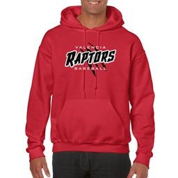 Raptors Gildan 18500 Adult  Cotton Red Hoodie