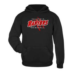 Raptors Badger Youth Black Performance Fleece Hoodie - 2454