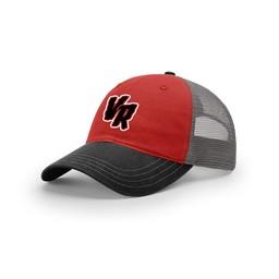 Raptors Richardson Garment Washed Trucker Cap - Red/Black/Charcoal  111