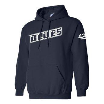 SCV Blues Baseball - Gildan Adult Cotton Hoodie 18500