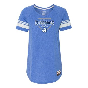 Burbank Softball Champion - Women's Originals Triblend Varsity Tee Royal
