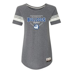 Burbank Softball Champion - Women's Originals Triblend Varsity Tee Grey