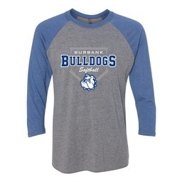 Burbank Softball Next Level - Unisex Triblend Three-Quarter Sleeve Raglan