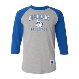 Burbank Baseball  Champion - Royal/Grey Raglan Baseball T-Shirt - T137