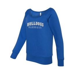 Burbank Baseball Bella + Canvas - Women's Sponge Fleece Wide Neck Sweatshirt - 7501