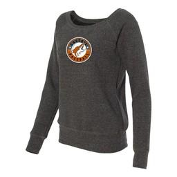 Castiac Baseball Bella + Canvas - Women's Sponge Fleece Wide Neck Sweatshirt - 7501