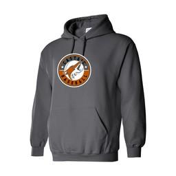 Castaic Baseball Gildan Heavy Blend Charcoal Hooded Sweatshirt - 18500