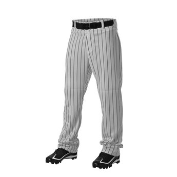 Alleson Youth Pinstripe Open Hem Pants: 605WPNY