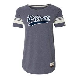 Wildcats Baseball Champion Women's Originals Triblend Varsity Tee - AO350