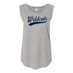 Wildcats Alternative Women's Satin Jersey Cap Sleeve Tee - 4013