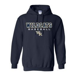 Wildcats Baseball Gildan 18500 Cotton Hoodie