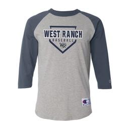 Wildcats Baseball Champion - Raglan Baseball T-Shirt - T137