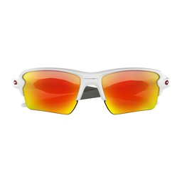Oakley Flak™ 2.0 XL Team Colors- Polished White/Prizm Ruby  -OO9188-359