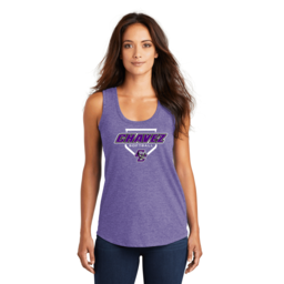 Chavez Softball Women's Perfect Purple Triblend Racerback Tank