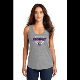 Chavez Softball Women's Perfect Grey Triblend Racerback Tank