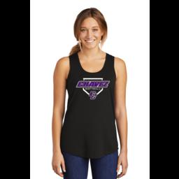 Chavez Softball Women's Perfect Black Triblend Racerback Tank