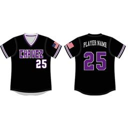 Chavez Softball Custom Sublimated V-Neck Jersey