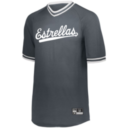 Cinco Holloway Retro V-Neck Baseball Jersey Youth Graphite
