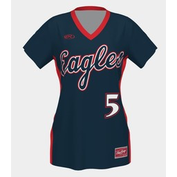 LHS SB Rawlings Women's Custom Sublimated Navy Jersey