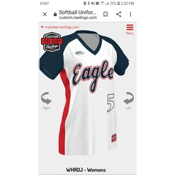 LHS SB Rawlings Women's Custom Sublimated White Jersey