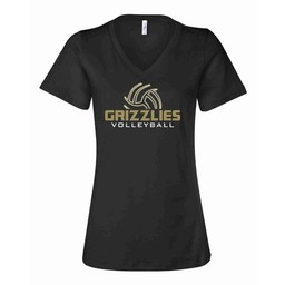GV Boys Volleyball- BELLA + CANVAS - Women's Relaxed Jersey V-Neck Tee