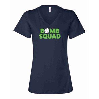 Bomb Squad Ladies Relaxed V-Neck