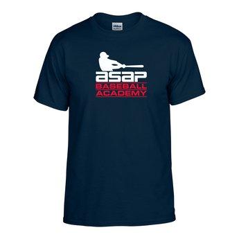 ASAP Baseball Cotton Adult Navy T-shirt
