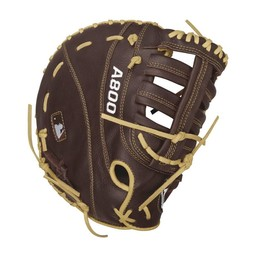"Wilson A800 Showtime 12"" Youth First Base Glove : WTA08RB16BM12"