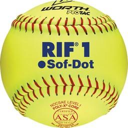 Worth Softballs SR10RYSA 10 in Soft Dot - 1 Dozen