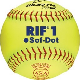 "Worth Softball Soft Dot 11"" SR11RYSA - 1 Dozen"