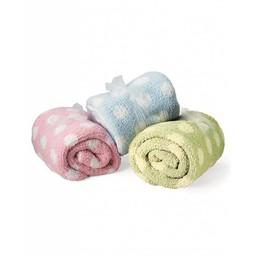 Colorado Clothing - Chunky Chenille Polka Dot Baby Blanket - 2134