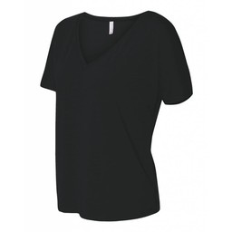 Blaze Baseball Academy  Bella + Canvas - Women's Slouchy V-neck Tee - 8815