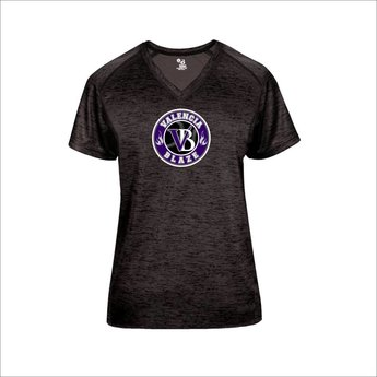 Blaze Baseball Academy - Badger Tonal Blend Ladies Vneck - 4175