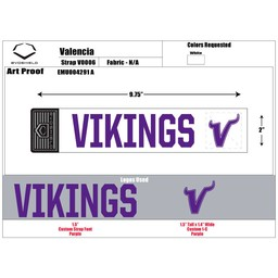 "Valencia Baseball Custom EvoShield ""Vikings"" Strap"