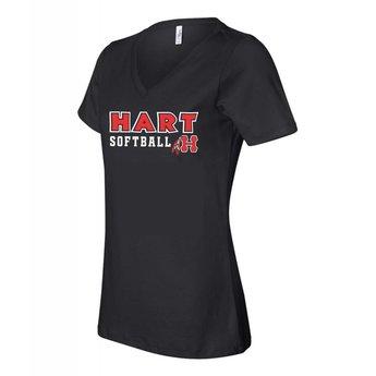 Hart Softball  - Women's Short Sleeve Jersey V-Neck Tee - 6005