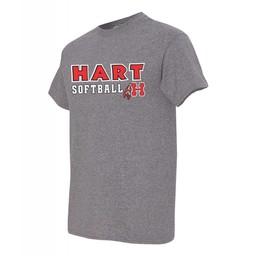 Hart Softball  Gildan 8000 50/50  Grey T-shirt