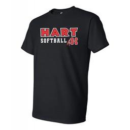Hart Softball  Gildan 8000 50/50  Black T-shirt