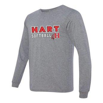 Hart Softball Canvas Long Sleeve Jersey Tee - 3501
